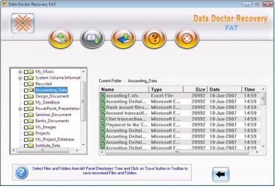 FAT Files Recovery 3.0.1.5 screenshot