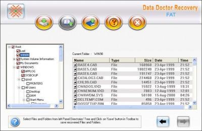 FAT Files Rescue software 3.0.1.5 screenshot