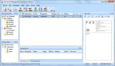 Fax Server Plus 5.5.0702 screenshot
