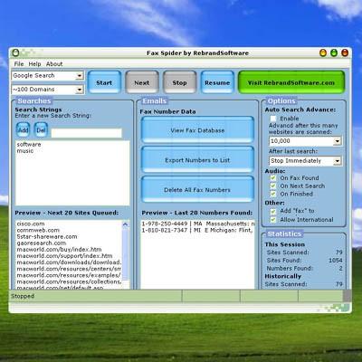 Fax Spider 2.3 screenshot