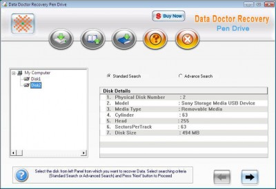 FDR PEN DRIVE DATA RECOVERY 2011.1105 screenshot