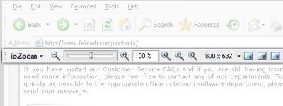 Febooti ieZoom toolbar 1.5 screenshot