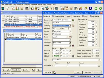 Ferienwohnungsverwaltung FeWo24 2.3.0c screenshot