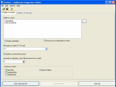 File and Folder Watcher 4.1 screenshot