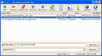 File Append and Split Tool 1.0.0 screenshot