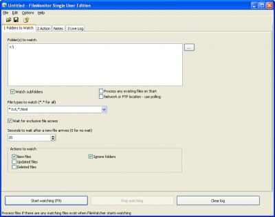 File Monitor 3.7 screenshot
