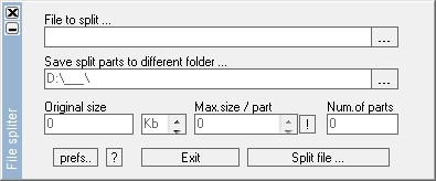 File Spliter 1.0.2.8 screenshot