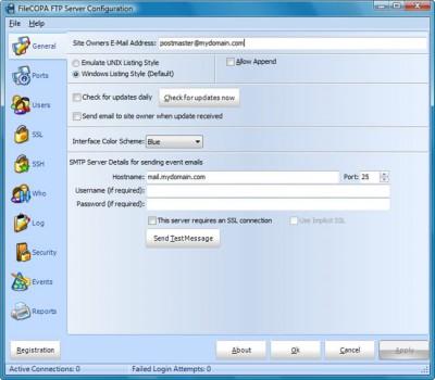 FileCOPA FTP Server 8.01 screenshot
