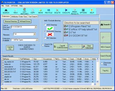Filehunter 3.45 screenshot