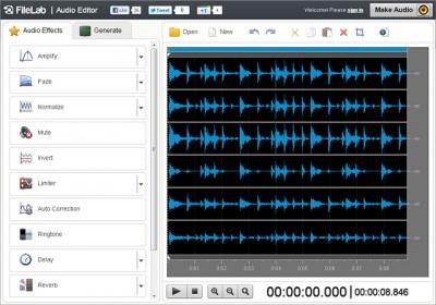 FileLab Audio Editor 1.1.0.0 screenshot