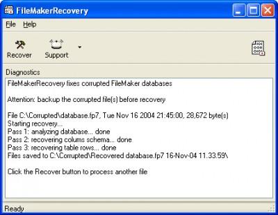FileMakerRecovery 1.6.0750 screenshot