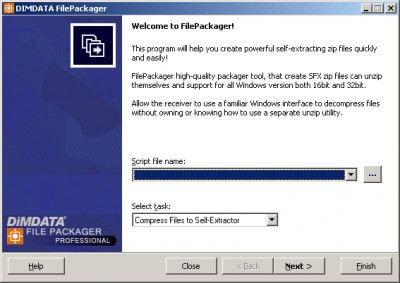 FilePackager Professional 5.1 screenshot