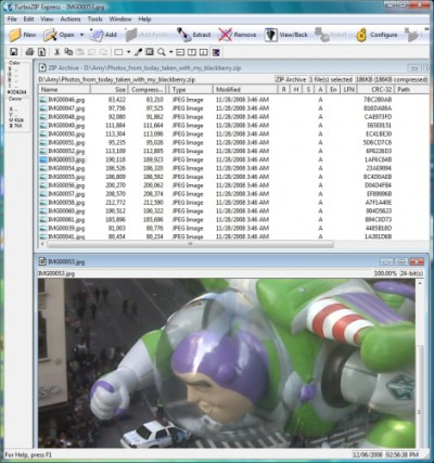 FileStream TurboZIP Express 7.2.002061 screenshot