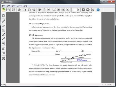 Fill&Sign 3.1.0.12 screenshot
