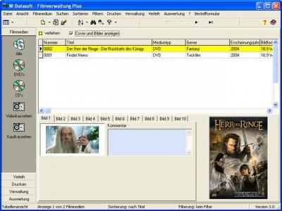 Filmverwaltung Plus 3.0 screenshot