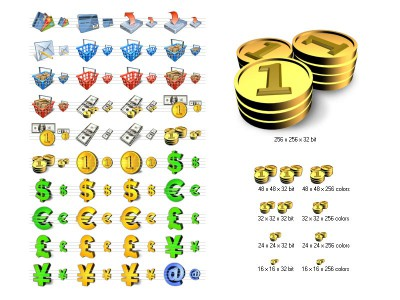 Financial Icon Library 4.6 screenshot