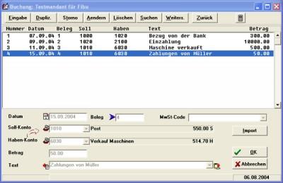 Finanzbuchhaltung 2.6 screenshot