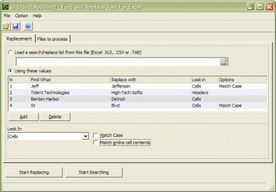 Find and Replcae Tool for Excel 1.0 screenshot