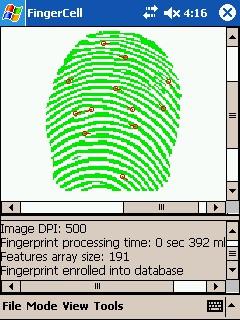 FingerCell EDK Trial 2.1 screenshot