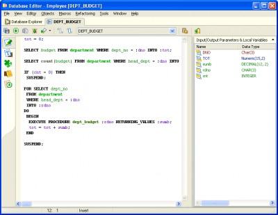 Firebird SQL Studio 6.0 screenshot