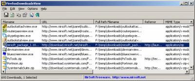 FirefoxDownloadsView 1.40 screenshot