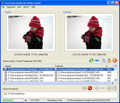 FirmTools Duplicate Photo Finder 1.1 screenshot