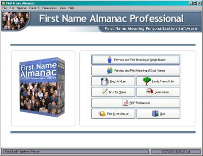 First Name Almanac 11.90 screenshot