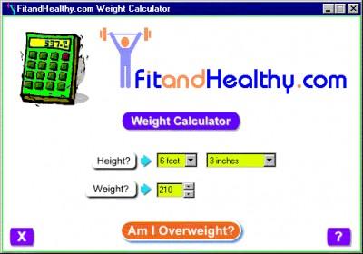 FitandHealthy.com Weight Calculator 1.0 screenshot