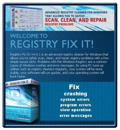 FIX IT REGISTRY REPAIR 2011.00216 screenshot
