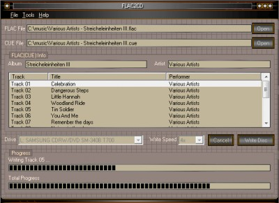 FLAC2CD 4.5.7 screenshot