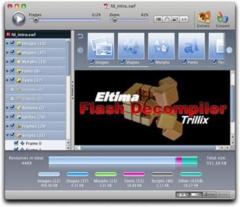 Flash Decompiler Mac 5.3 screenshot