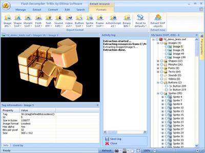 Flash Decompiler Trillix 5.3.1 screenshot