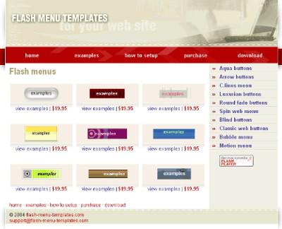 Flash Menu Templates 1.00 screenshot