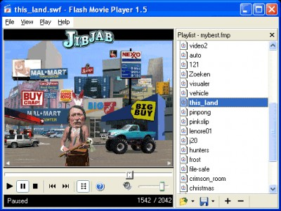 Flash Movie Player 1.5 screenshot