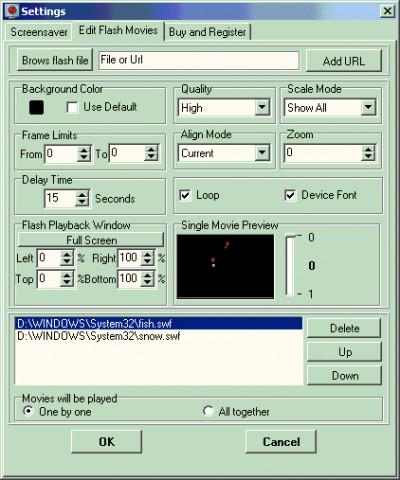 Flash Screen Saver 5.1736 screenshot