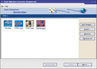 Flash Slideshow Generator 2.1.6.2 screenshot