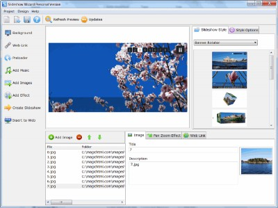 Flash Slideshow Wizard 3.2 screenshot