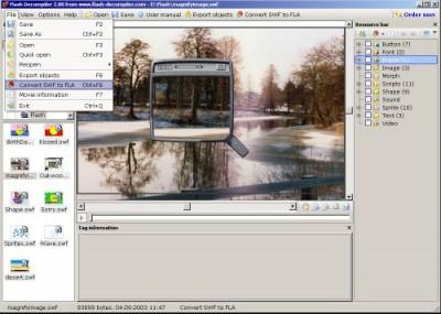 Flash SWF Decompiler 2.0 screenshot