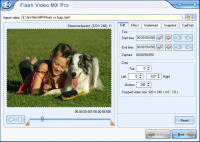 Flash Video MX Pro 4.6 screenshot