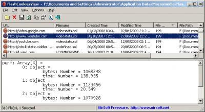 FlashCookiesView 1.15 screenshot