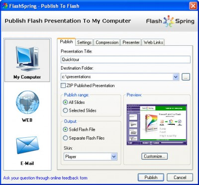 FlashSpring Pro 3.0 screenshot