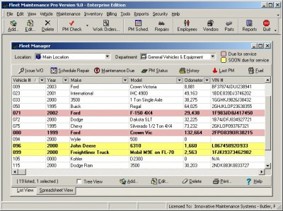 Fleet Maintenance Pro Enterprise 9.02 screenshot