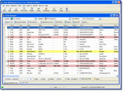 Fleet Maintenance Pro Standard 11.0.0.40 screenshot