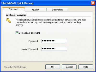 FlexibleSoft Quick Backup 1.3 screenshot
