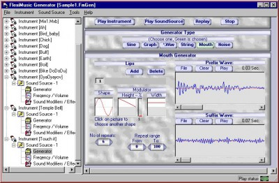 FlexiMusic Generator June 2002 screenshot