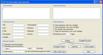 FLF Services Meta Tag Generator 1.6 screenshot