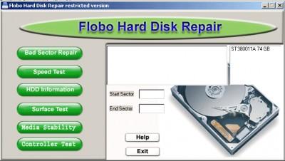 Flobo HDD Repair 1.5 screenshot