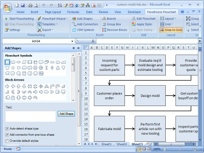 FlowBreeze Flowchart Software 3.6.724 screenshot