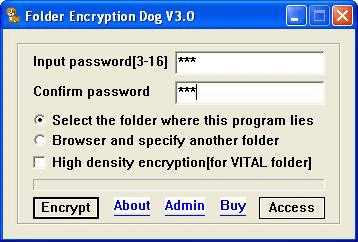 Folder Encryption Dog 3.0 screenshot