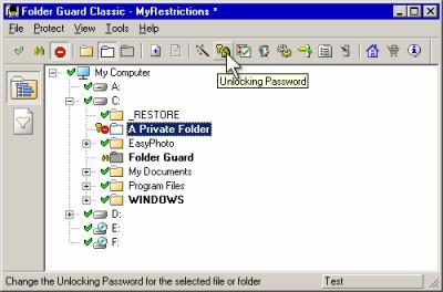 Folder Guard Classic Edition 7.5 screenshot